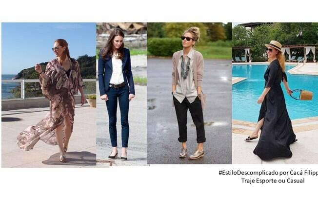 Cacá Filippini mostra exemplos quando o dress code pede trajes casuais