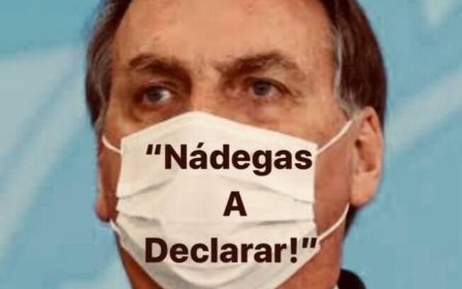 Memes nas redes sociais acabaram envolvendo também o nome do presidente Bolsonaro