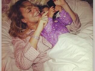 Mariah Carey com a filha Monroe