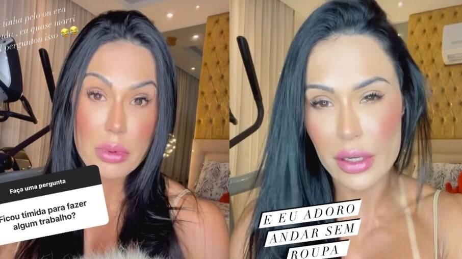 Gracyanne Barbosa relembra pergunta indiscreta ao posar nua
