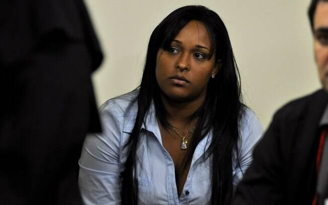 A ex-mulher de Bruno, Dayanne Rodrigues, neste segundo dia de julgamento