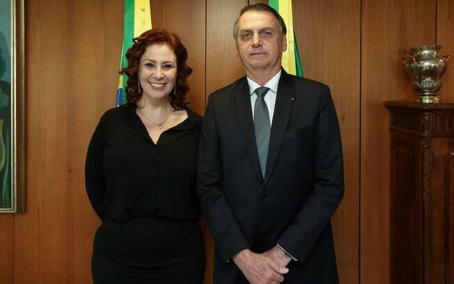 Carla Zambelli e Jair Bolsonaro