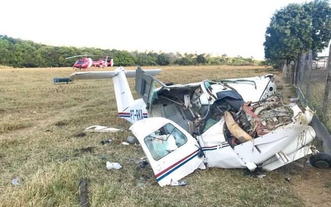 Cenipa vai investigar as causas da queda do avião de pequeno porte em Goiás