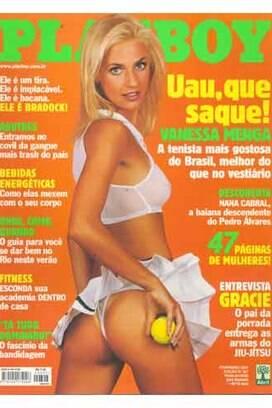 Capa em fevereiro de 2001, a tenista Vanessa Menga participou de dois Jogos Pan-Americanos: Mar Del Plata-1995 e Winnipeg-1999, no qual ganhou o ouro.. Foto: Reprodução