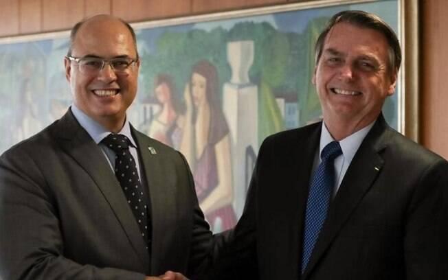 Wilson Witzel e o presidente Jair Bolsonaro