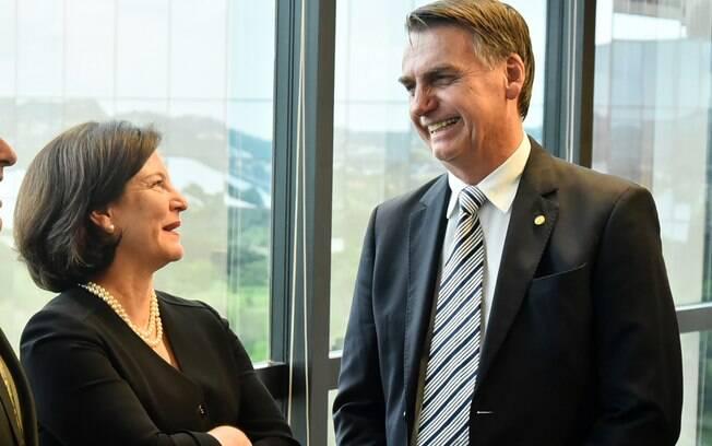 Procuradora-geral da República, Raquel Dodge, em conversa com o presidente Jair Bolsonaro