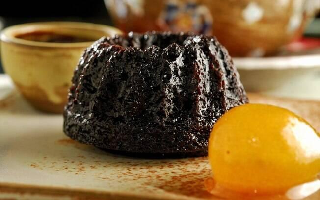 Foto da receita Devil's Cake com chá de menta marroquina pronta.