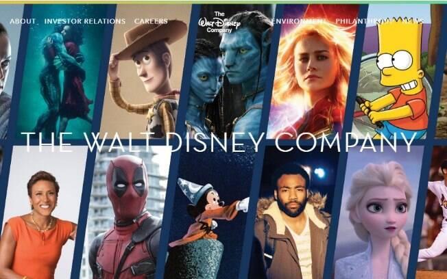 Site da Disney já está atualizado com conteúdos que pertencem à Fox