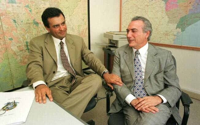 Em 2001, após dois mandatos à frente da Câmara, Michel Temer apoiou Aécio Neves (PSDB-MG) como sucessor e se elegeu presidente do PMDB. Foto: Arquivo/Estadão Conteúdo - 22.01.01