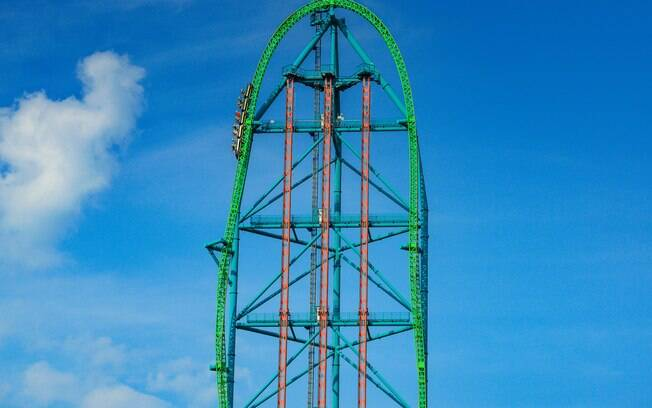 Montanhas-russas recordistas: a Kingda Ka, no Six Flags Great Adventure é a montanha mais alta do mundo