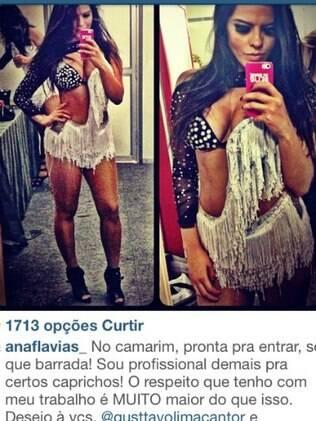 Ana Flavia, bailarina do Faustão