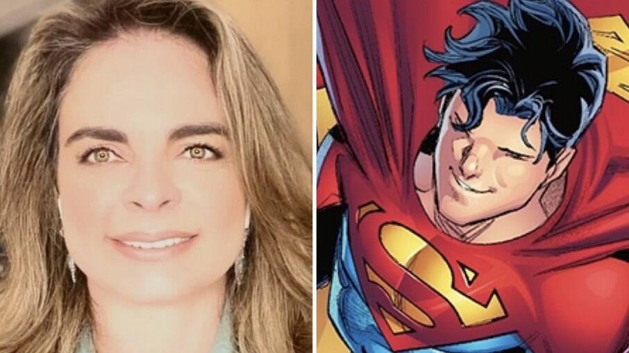 Liliane Ventura e Jon Kent, conhecido nas histórias em quadrinhos por herdar o posto do pai, Clark Kent