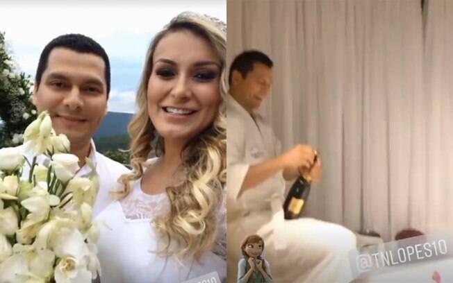 Andressa Urach se casa em cerimônia intimista