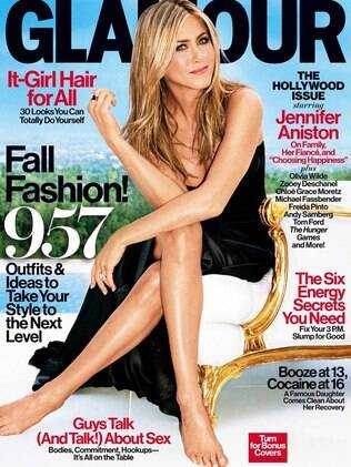Jennifer Aniston na revista 'Glamour' americana