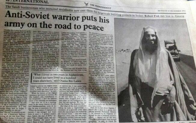 Osama bin Laden saiu em jornal como guerreiro da paz