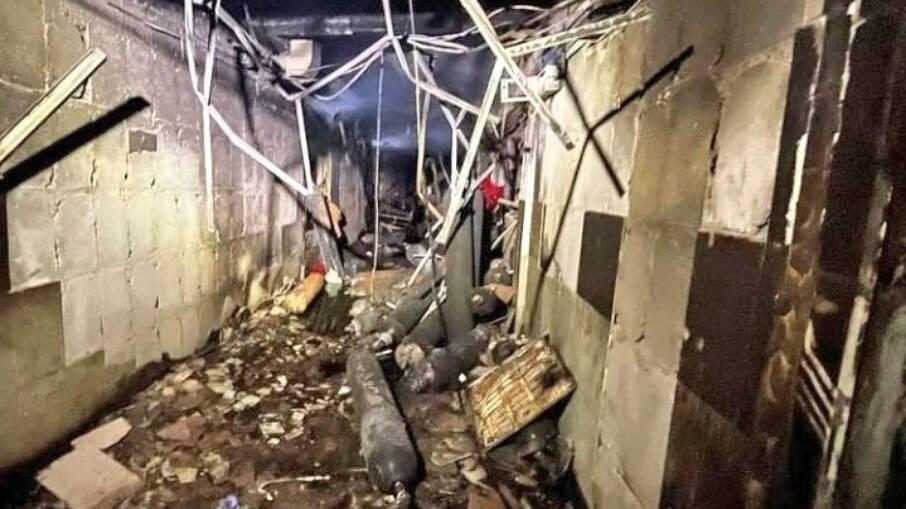 Imagens compartilhadas nas redes sociais mostram o tamanho do estrago causado pelo fogo