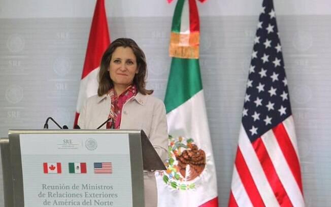 Na última semana, a ministra canadense Chrystia Freeland (foto) afirmou que surgiram avanços nas conversas sobre um novo Nafta, mas não o suficiente para carimbar o acordo