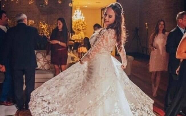 Cozete Gomes no dia do seu casamento