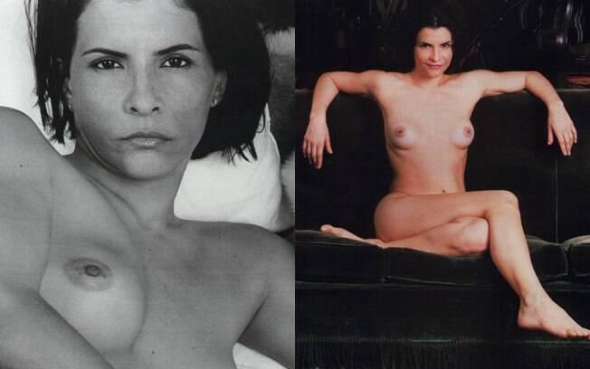 Marina Lima em seu ensaio nu