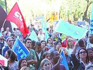 Os servidores da educação programaram um protesto para hoje