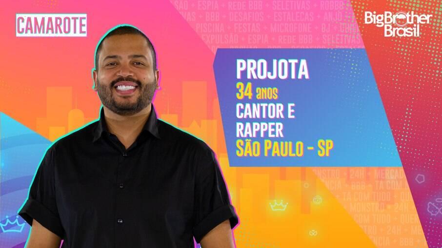 Cantor Projota está confirmado no 'BBB 21'
