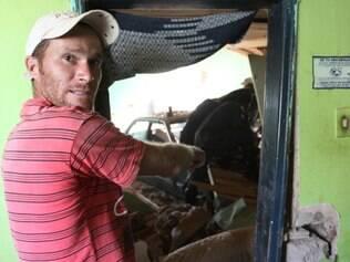 O dono da casa, Fábio Júnior, chegou em casa minutos depois do acidente acontecer