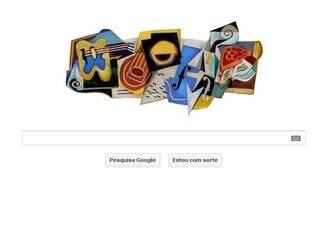Logotipo cubista do Google nesta sexta-feira (23)