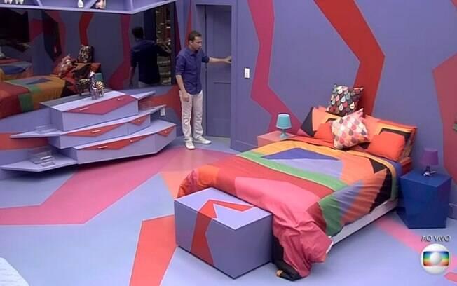 Um dos quartos do Big Brother Brasil é mais colorido, com predominância do lilás