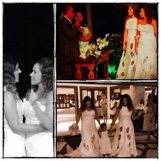 Malu Verçosa postou em rede social uma montagem com fotos do casamento