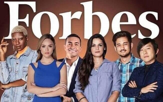 Craque do Brasileirão, Dudu é um dos integrantes da capa da revista Forbes