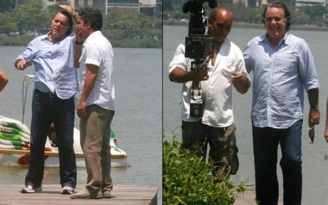 Tony Ramos participa de gravação no Rio