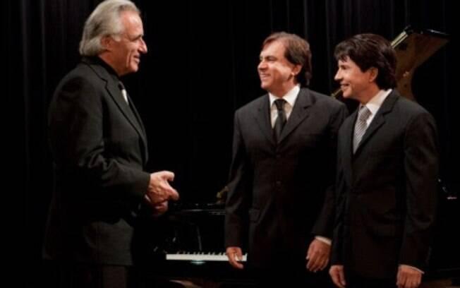 Chitãozinho e Xororó com o maestro João Carlos Martins