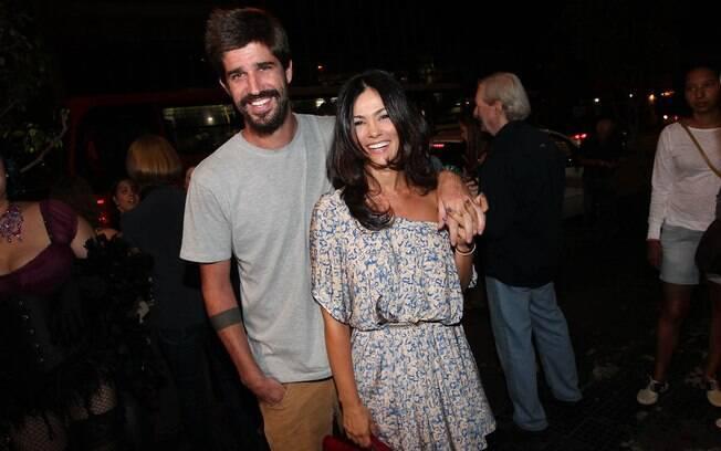 Suzana Alves com o marudo Flávio Saretta