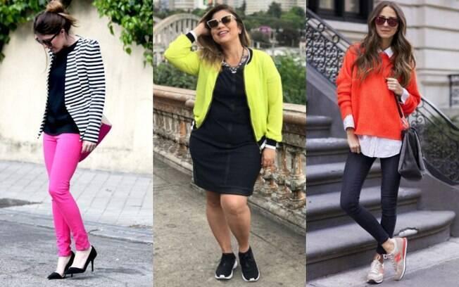 Uma peça de roupa neon pode ser incorporada em qualquer estilo para deixar o visual mais divertido e energético