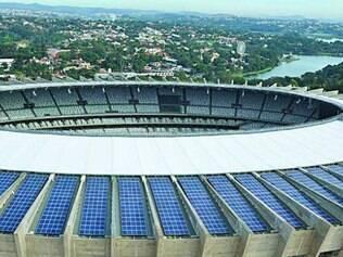 Usina na cobertura gera 39% da energia gasta pelo Mineirão
