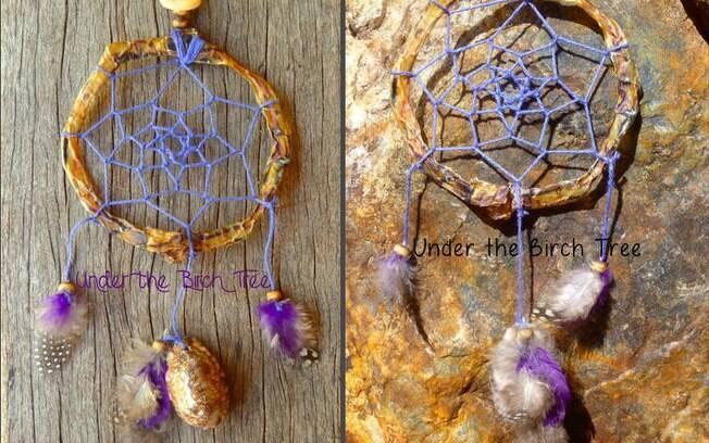 Apanhadores de sonhos feitos com o cordão umbilical dos bebês por Samantha Birch