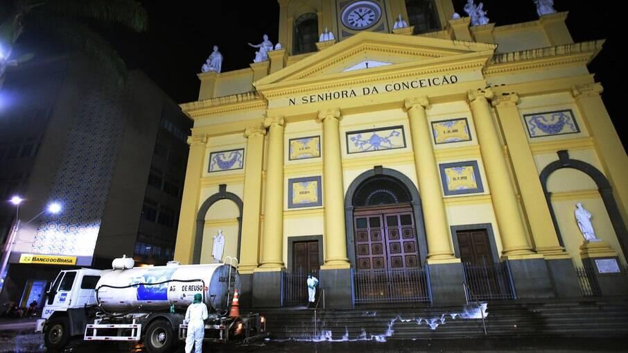 Catedral vai celebrar Corpus Christi com público reduzido e sem tapetes.
