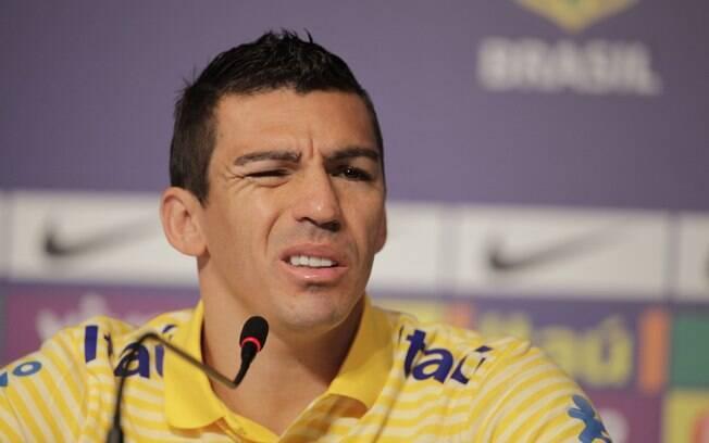 Lúcio participou de coletiva nesta  segunda-feira na Copa América