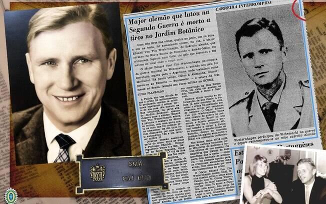Homenageado foi o major alemão Eduard Ernest Thilo Otto Maximilian von Westernhagen, que lutou junto a nazistas