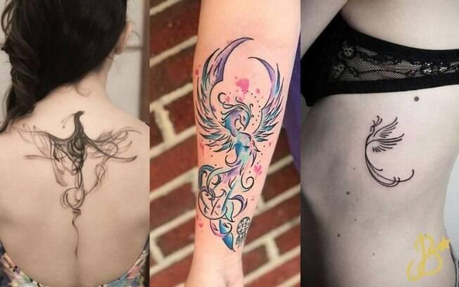 Inspirações de tatuagens de Fênix: símbolo da superação