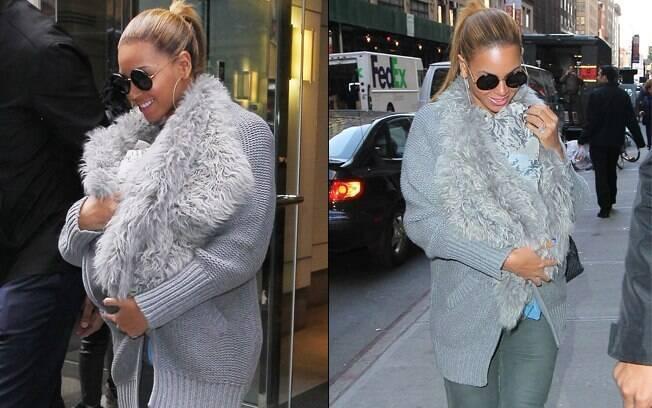 Beyoncé chega ao trabalho com a filha a tiracolo