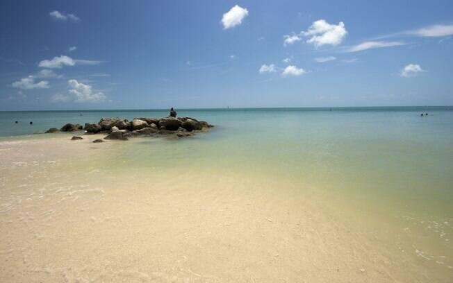 Um pouco mais longe, a três horas de Miami, estão as belas praias de Key West