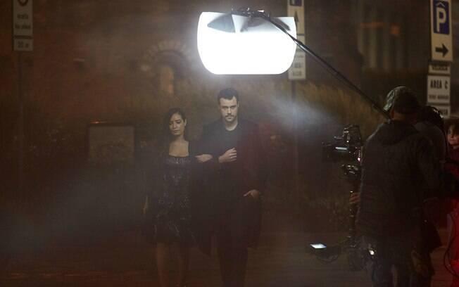 Joaquim Lopes e a atriz cubana Ana de Armas,  no curta-metragem