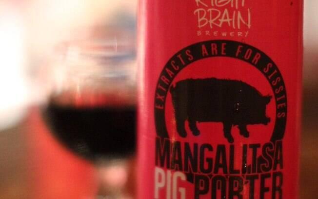Cervejas bizarras: o sabor da Mangalitsa Pig Porter vem das cabeças de porco defumadas usadas em seu preparo