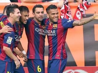 Com a vitória, o Barcelona chegou aos 19 pontos e retomou a ponta da tabela