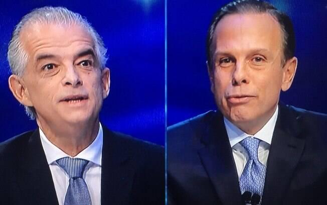 Candidatos João Doria (PSDB) e Márcio França (PSB) participam de debate entre os candidatos a governador de São Paulo