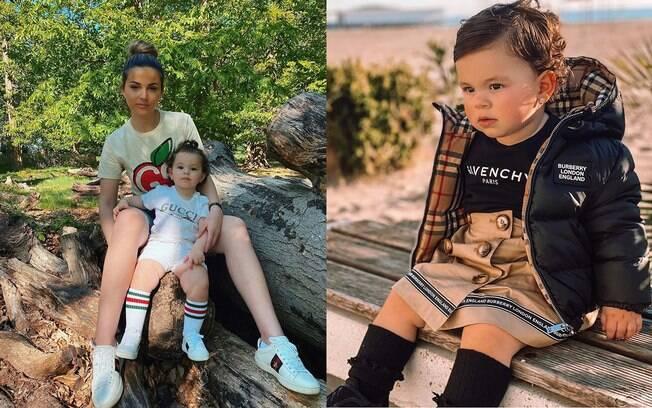 Mãe é criticada por vestir a filha com roupas de luxo