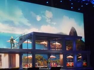 Galaxy S4 teve lançamento teatral, com palco de três andares no Radio City Music Hall, em Nova York (EUA)