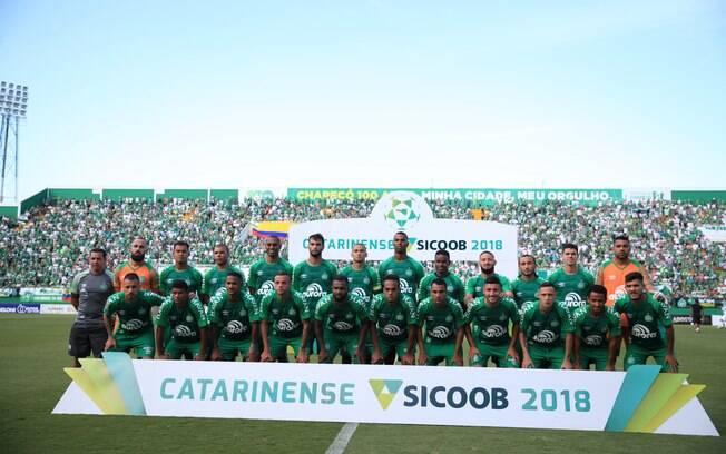 Time da Chapecoense na final do Catarinense 2018