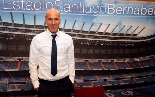 Zidane conquistou três Champions com o Real Madrid
